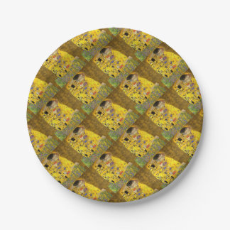 The Lovers Kiss After Klimt Paper Plate