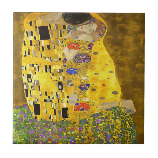 The Lovers Kiss After Klimt Small Square Tile