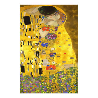 The Lovers Kiss After Klimt Stationery