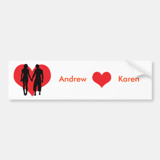 The lovers personalised name valentine s gift bumper sticker