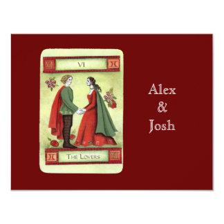 """""""The Lovers"""" tarot card 11 Cm X 14 Cm Invitation Card"""
