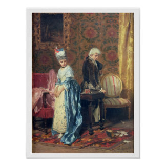 The Lovers' Tiff, 1872 (oil on panel) Poster
