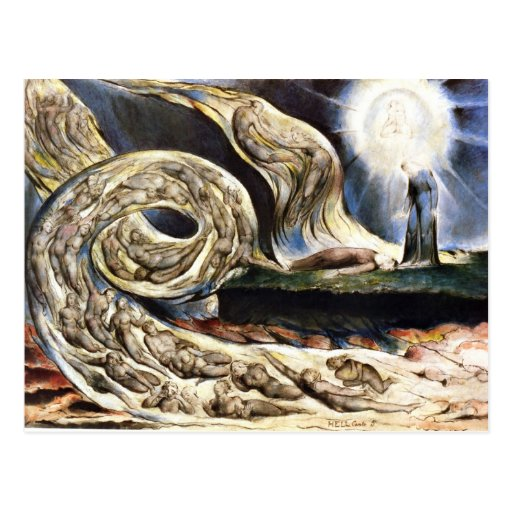 The Lovers' Whirlwind, William Blake Post Cards