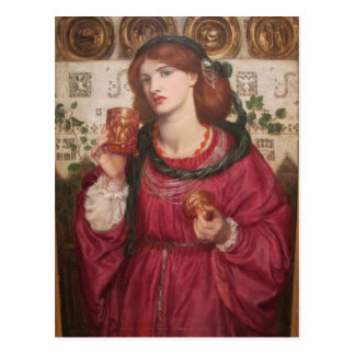 The Loving Cup - Dante Gabriel Rossetti Post Card