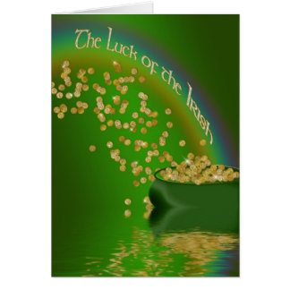 The Luck of the Irish - Pot of Gold/Rainbow Card