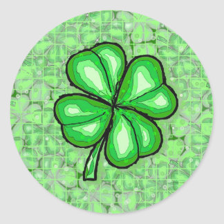 The Luck of the Irish Round Stickers