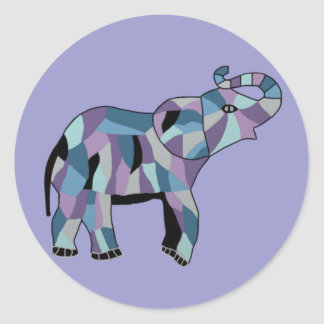 The Lucky Elephant Round Sticker