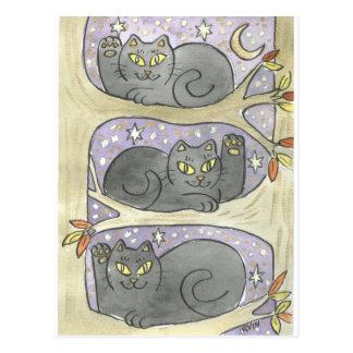 The Lucky Tree Trio Postcard