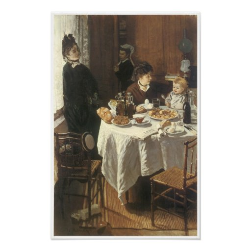 The Luncheon, 1865 Poster