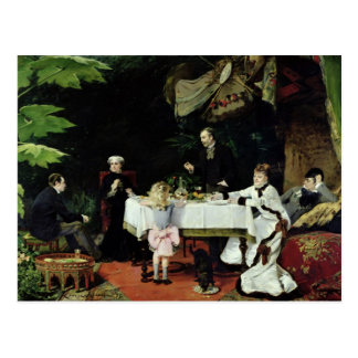 The Luncheon in the Conservatory, 1877 Postcard