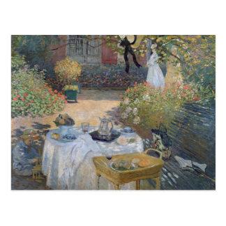 The Luncheon Monet s garden at Argenteuil Post Card