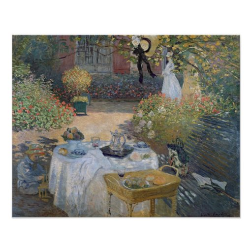 The Luncheon: Monet's garden at Argenteuil Posters