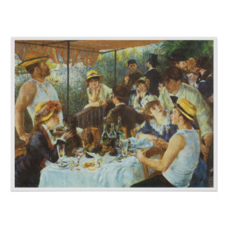 The Luncheon of the Boating Party, 1881 Poster