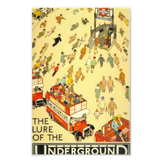 The Lure of the Underground, London Photographic Print