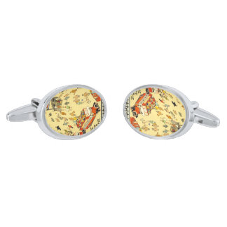 The Lure of the Underground, London Silver Finish Cufflinks