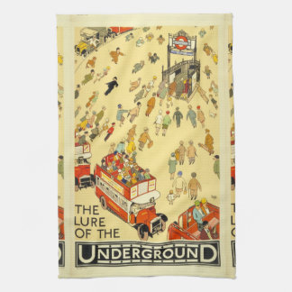 The Lure of the Underground, London Tea Towel