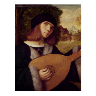 The Lute Player Postcard