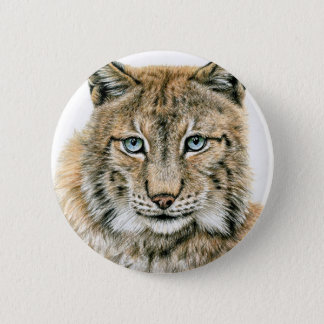 The lynx - The Lynx 6 Cm Round Badge