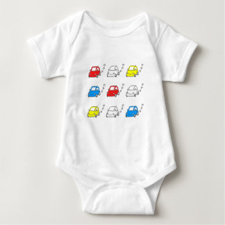 The ma car & the car which come baby bodysuit