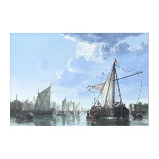 The Maas at Dordrecht by Aelbert Cuyp Acrylic Print
