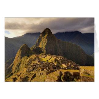 The Machu Picchu Site Near Cusco in Peru Card