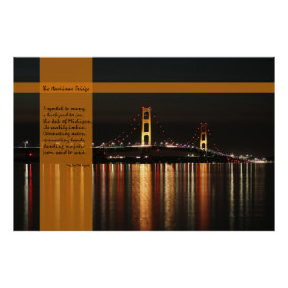 The Mackinac Bridge - Poster