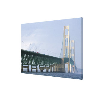 The Mackinac Bridge spanning the Straits of Stretched Canvas Print