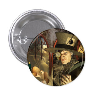 The Mad Hatter 3 Cm Round Badge