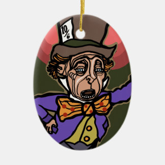 The Mad Hatter Ceramic Ornament