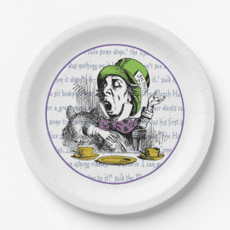 The Mad Hatter Paper Plate