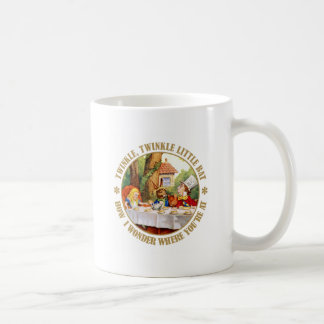 The Mad Hatter recites, Twinkle Twinkle Little Bat Coffee Mug