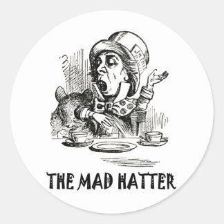 THE MAD HATTER ROUND STICKER