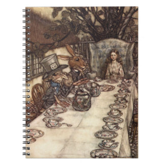 The Mad Hatter Tea Party Arthur Rackham Notebook