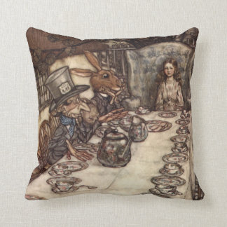 The Mad Hatter Tea Party by Arthur Rackham Cushion