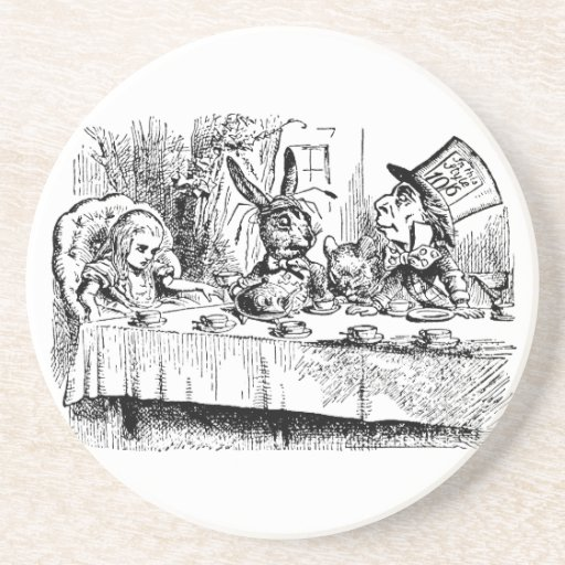 The Mad Hatter's Tea Party Beverage Coaster