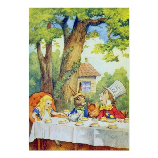 The Mad Hatters Tea Party Full Color Poster