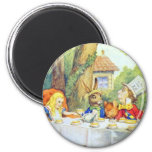 The Mad Hatters Tea Party Full Colour 6 Cm Round Magnet