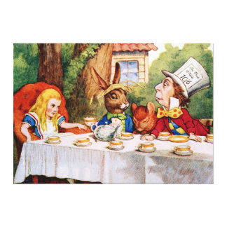 The Mad Hatter's Tea Party in Wonderland Canvas Print