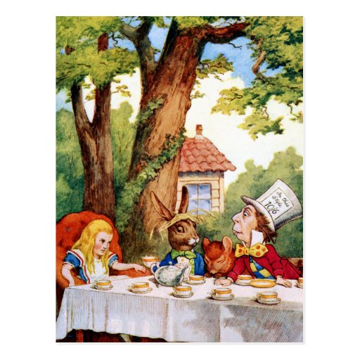 The Mad Hatter's Tea Party in Wonderland Post Card