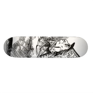 The Mad Hatter's Tea Party Skate Board