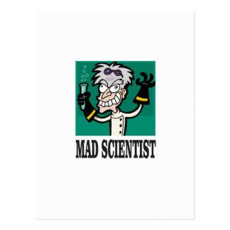 the mad scientist yeah postcard