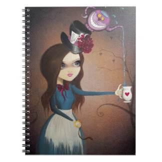 The Mad Tea Party Spiral Notebook