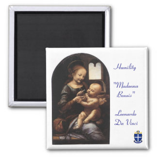 "The ""Madonna Benois"" Text -  Sq Magnet - Diocese"