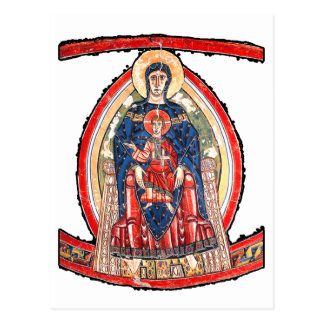 The Madonna Enthroned - 12th Century Postcard