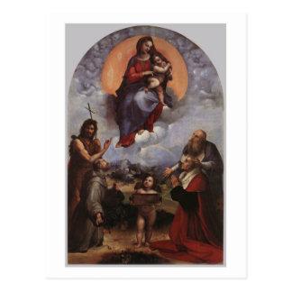 The Madonna of Foligno postcard