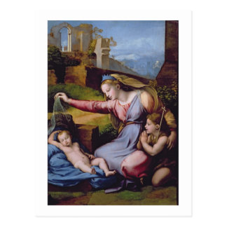 The Madonna of the Blue Diadem or The Madonna of t Postcard