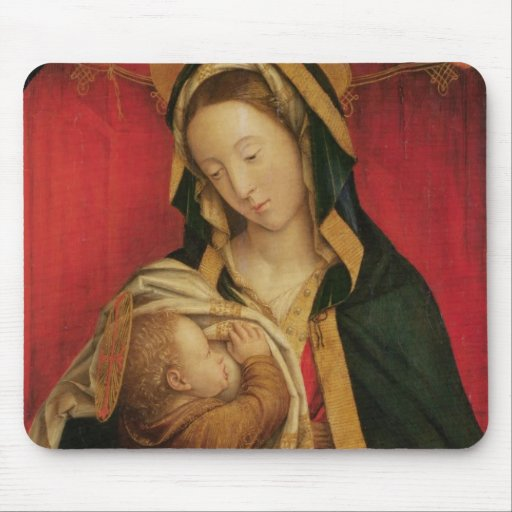 The Madonna Suckling her Child, 1520-30 (oil on pa Mousepads