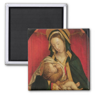 The Madonna Suckling her Child, 1520-30 (oil on pa Square Magnet