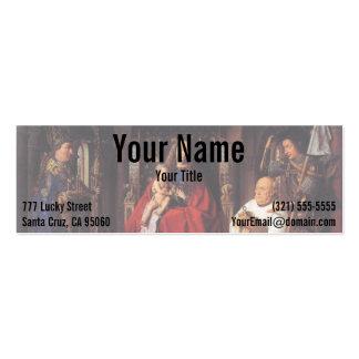 The Madonna with Canon van der Paele, Jan van Eyck Business Card Template