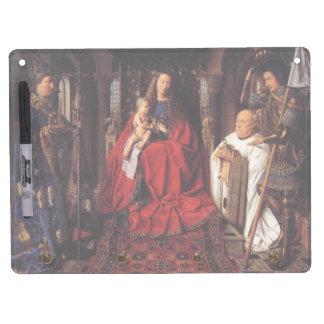 The Madonna with Canon van der Paele, Jan van Eyck Dry Erase Board